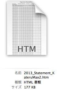 MT4のレポートはHTML形式