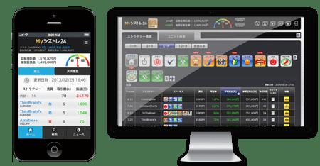 シストレ24(インヴァスト証券)の画面