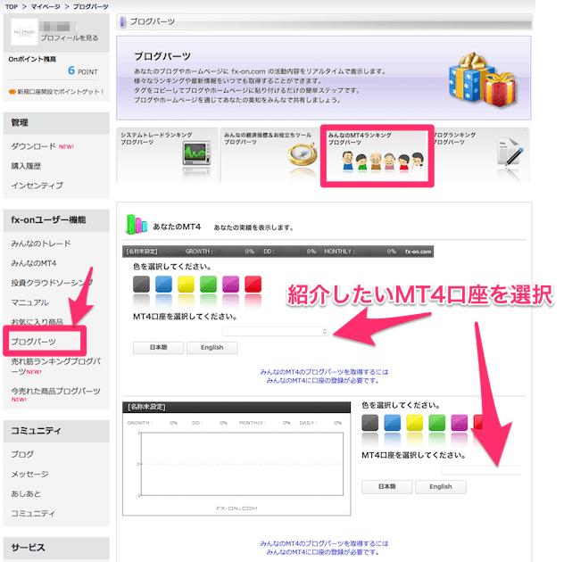 みんなのMT4ブログパーツの設置方法