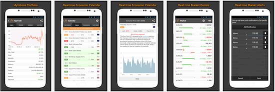 Myfxbookのスマホアプリ