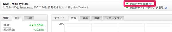 Myfxbookの取引実績(Track Record)の認証