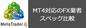 MT4対応おすすめ国内FX業者の比較